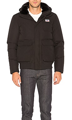 Penfield Hanford Shearling Collar Jacket in Black