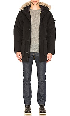 Penfield Hoosac Faux Fur Parka in Black