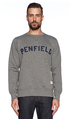 Penfield Brookport Sweatshirt in Grey Melange