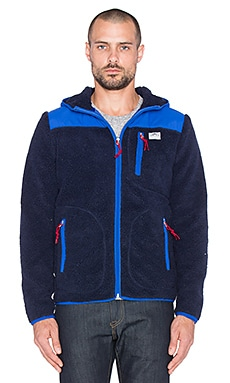 Penfield Carson Hooded Fleece Jacket in Navy