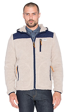 Penfield Carson Hooded Fleece Jacket in Tan