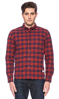 Penfield Kemsey Quilted Shirt in Red
