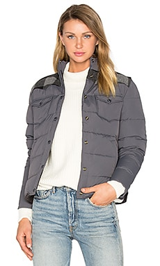 Rockford Plaid Yoke Down Jacket en Gris