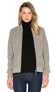 Prescott Pile Fleece Bomber in Grey