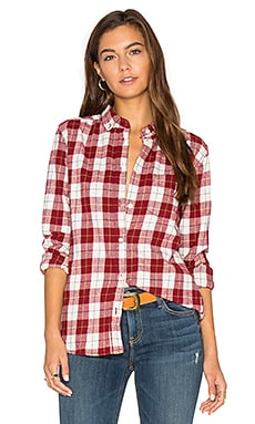 Pearson Brushed Cotton Check Shirt en Rouge
