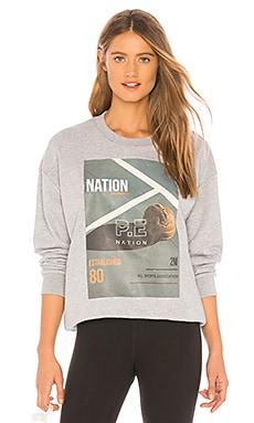 Фото - Свитшот bradball - P.E Nation серого цвета