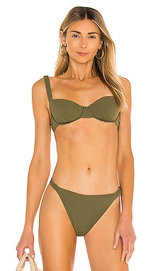 Holiday Balconette Bikini Top Peony Swimwear $100