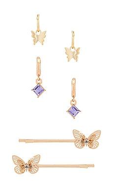 Fly Away Earring & Barrette Set petit moments $70