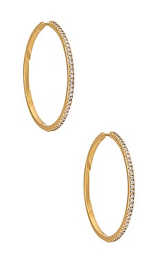 Pave Hoop Earring petit moments $49