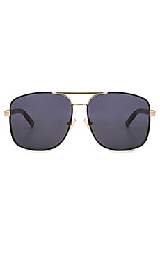Pared Eyewear Uptown & Downtown Sunglasses in Gold & Black Leather