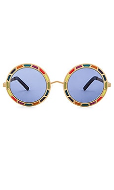 Pared Eyewear Sonny & Cher Sunglasses in Gold & Rainbow
