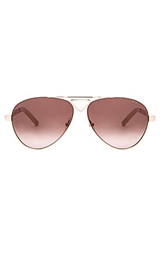 Pared Eyewear Funk & Soul Sunglasses in Rose Gold & White