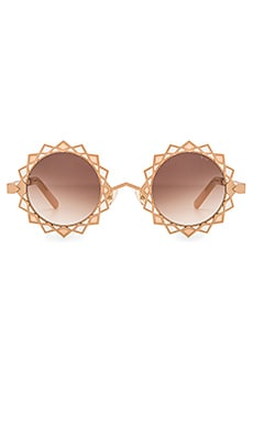 Pared Eyewear x Rocky Barnes Moon & Stars Sunglasses in Rose Gold