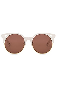 Pared Eyewear x Rocky Barnes Up & At Em Sunglasses in White & Gold