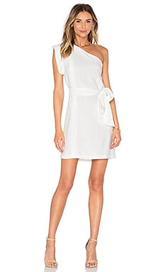 PFEIFFER Echo One Shoulder Dress in Powder