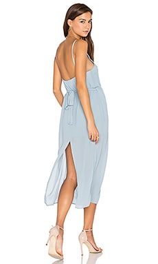 Lazlo Slip Dress in Dusty Blue