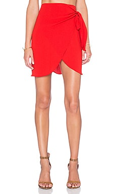 PFEIFFER New Wave Wrap Skirt in Serge Red