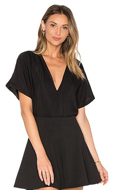 PFEIFFER Echo V-Neck Top in Jet Black