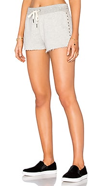 Chester Studded Short en Gris Chiné