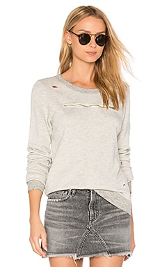 Ash Zip Sweatshirt in Heather Grey