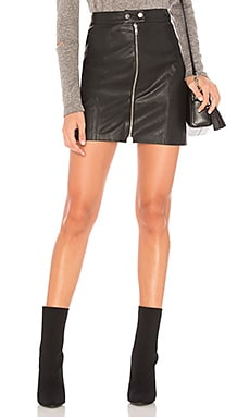 Gibson Faux Leather Skirt