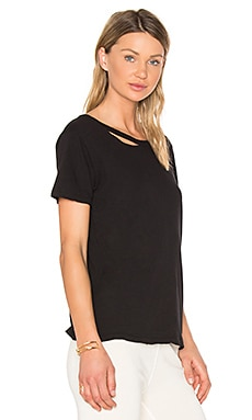 Harlow Distressed Tee in Black