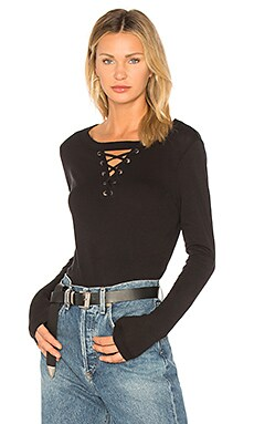 thorn lace up long sleeve top