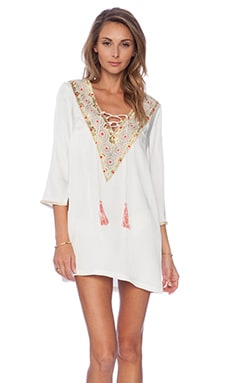Pia Pauro Embroidered Tunic in Ivory