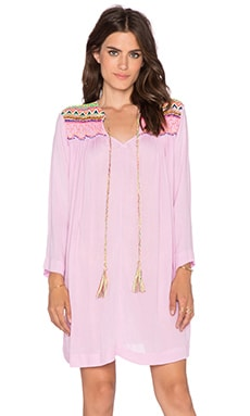 Pia Pauro Embroidered Tunic in Pink