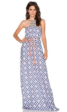 Pia Pauro Patterned Maxi Dress in Stromboli
