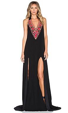 Pia Pauro Embellished Maxi Dress in Black