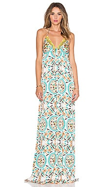 Pia Pauro Patterned Maxi Dress in Organic Pumpkin