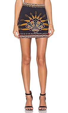 Pia Pauro Embroidered Straight Skirt in Black
