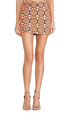 Pia Pauro Embroidered Mini Skirt in Black
