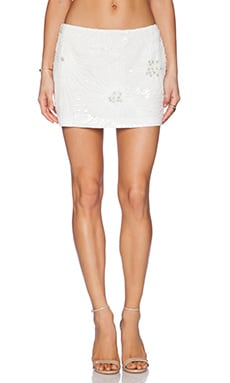 Pia Pauro Ladies Sequin Skirt in White