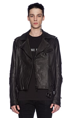 Pierre Balmain Leather Jacket in Black