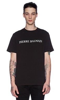 Pierre Balmain Graphic Tee in Black