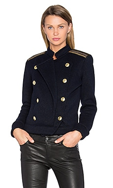 Military Sweater in Blue Navy