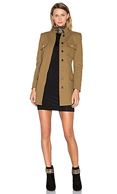 Flap Pocket Coat in Beige