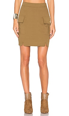 Pocket Skirt in Beige