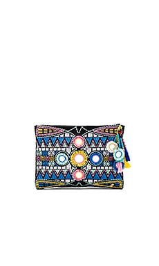 PILYQ Embroidered Pouch in Inca