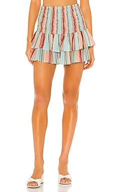 x Helen Owen Smocked Skirt PILYQ $128