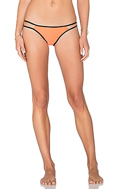 PILYQ Strappy Troy Teeny Bikini Bottom in Orange