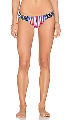 PILYQ Fanned Brazillian Bikini Bottom in Tribal Fire