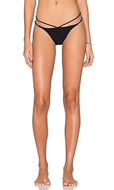 PILYQ Strappy Twiggy Teeny Bikini Bottom in Midnight Gold