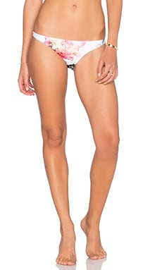 PILYQ Basic Teeny Bikini Bottom in Summer Fleur