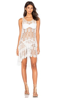 Island Lace Dress in Keshi Pearl