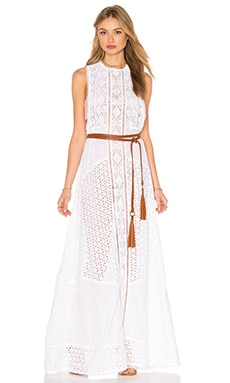 PILYQ Wren Maxi Dress in Water Lily