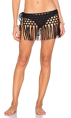 Macrame Skirt en Midnight Gold