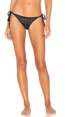 Laser Tie Teeny Bikini Bottom in Midnight Gold